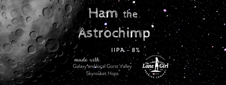 Ham the Astrochimp (IIPA) – 8% ABV