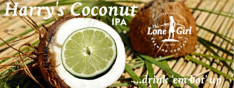 Harry's Coconut IPA  6.8% ABV