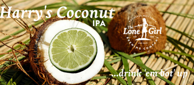 Harry's Coconut IPA  6.8% ABV